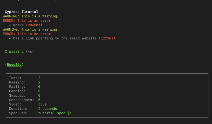 tests-with-logging