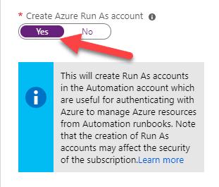 """Select Create Run Account"""
