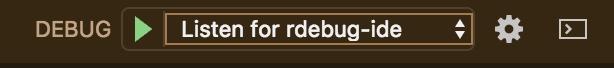 selecting rdebug