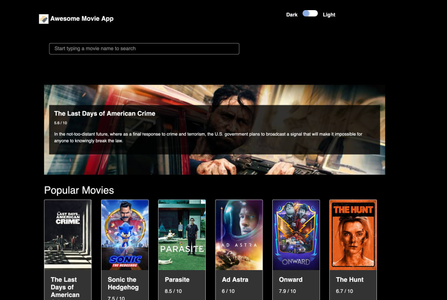 Awesome Movie App Screenshot