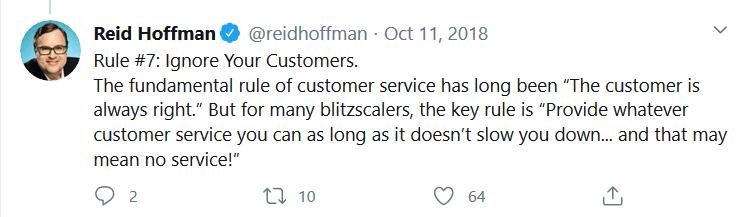 Ried Hoffman tweet