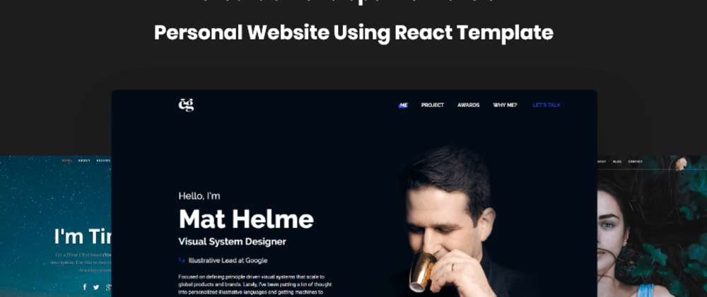 Cover image for How to create your portfolio website using React.js Template