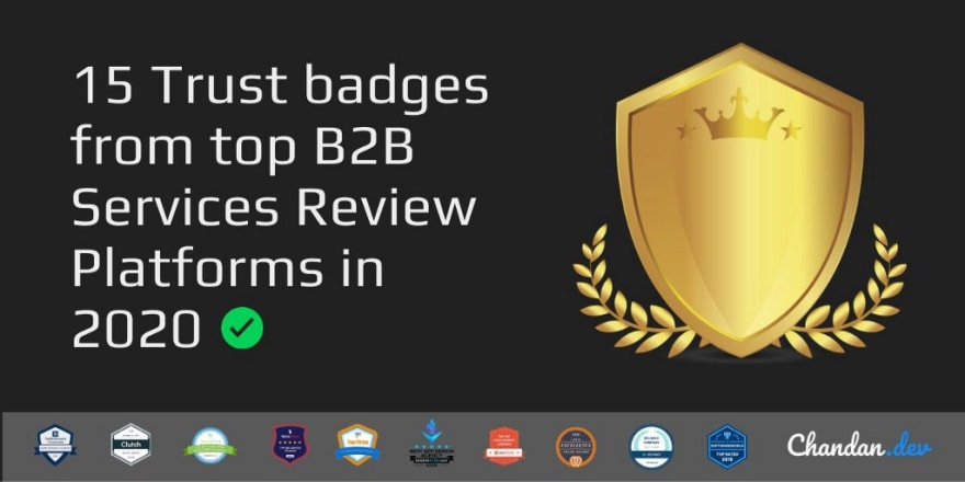 Cover image for trust badges by B2b service review platforms