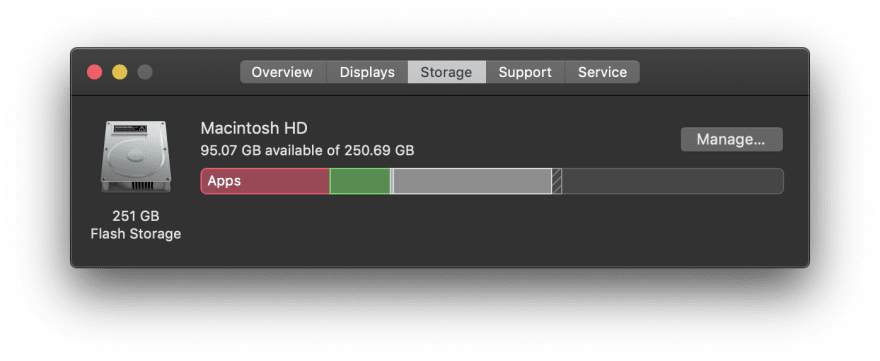 macOS storage overview