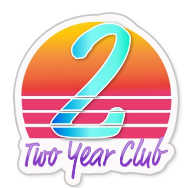 Two Year Club badge