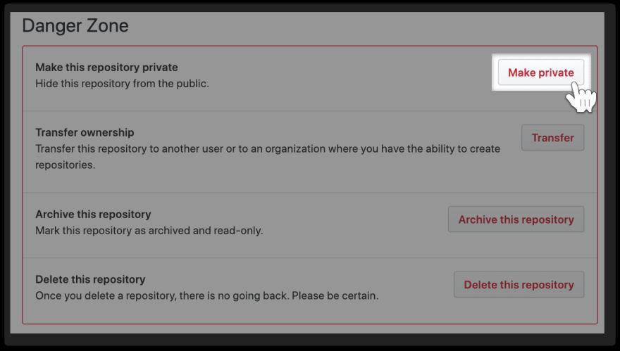 GitHub-Danger-Zone