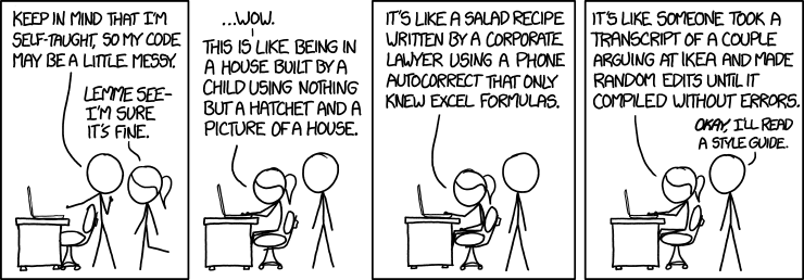 XKCD Code Quality comic