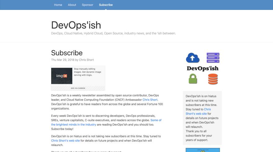 DevOps'ish Screenshot
