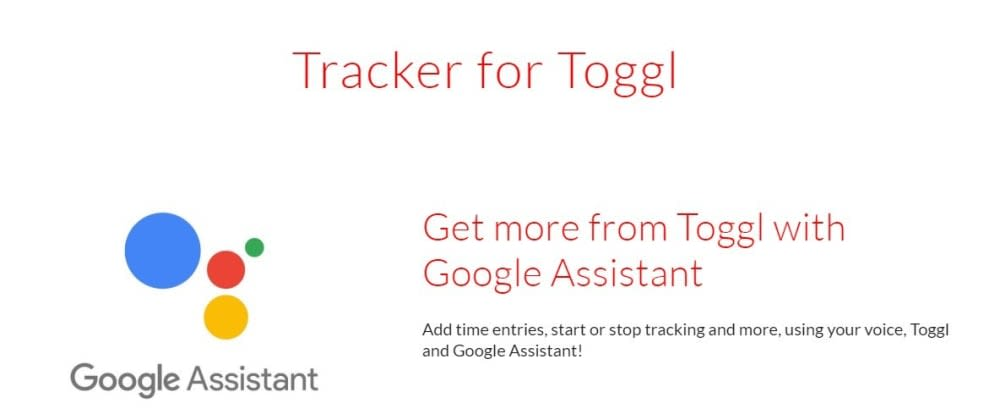 Track time you spent on your projects using your #Voice