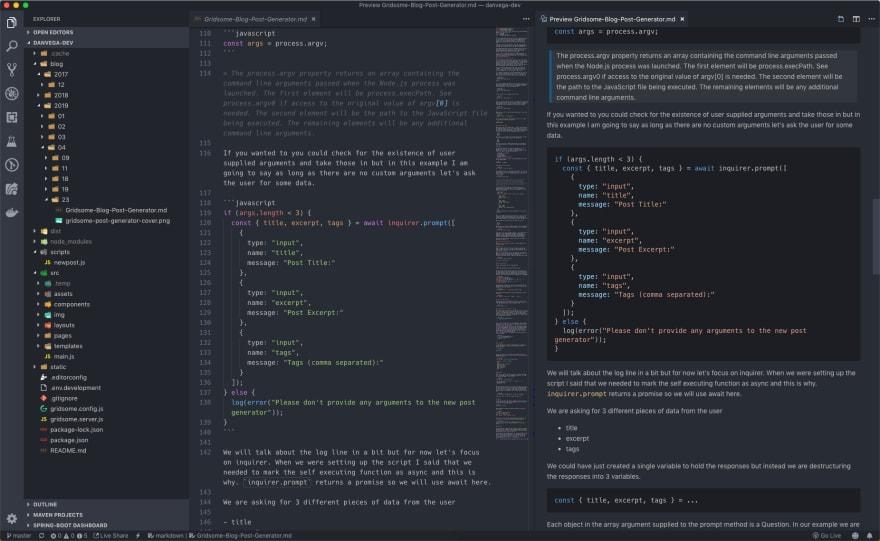 Visual Studio Code Markdown