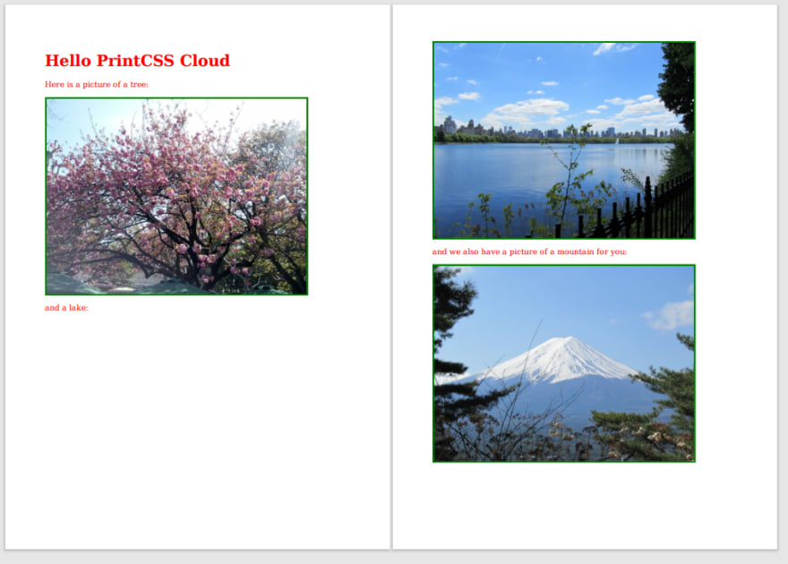 Relative Linked Images from the passed ZIP file.