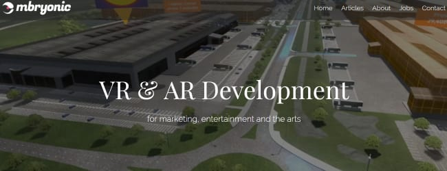 Mbryonic-Top AR & VR Mobile App Development Company