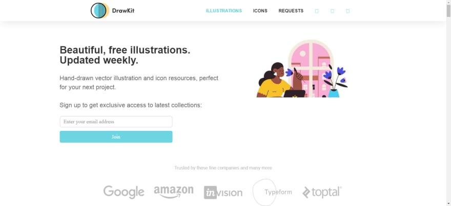 drawkit homepage