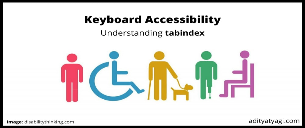 Cover image for Understanding tabindex – keyboard accessibility