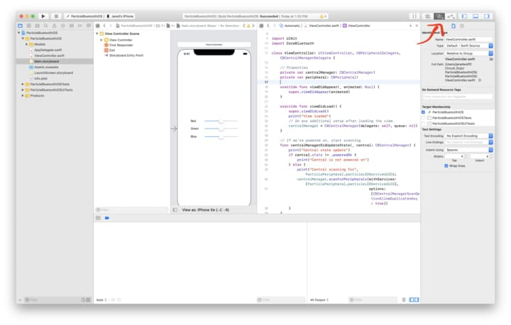Show Assistant Editor button in Xcode