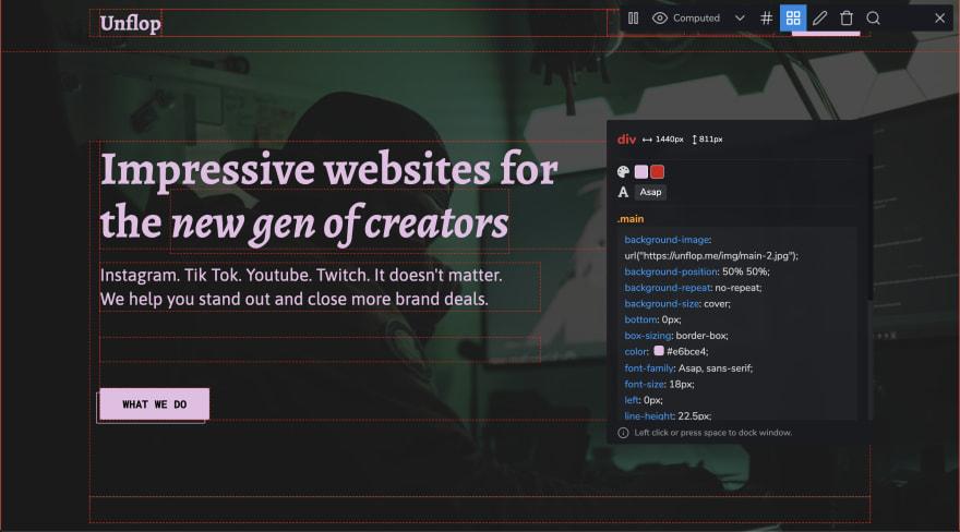 Unflop screenshot