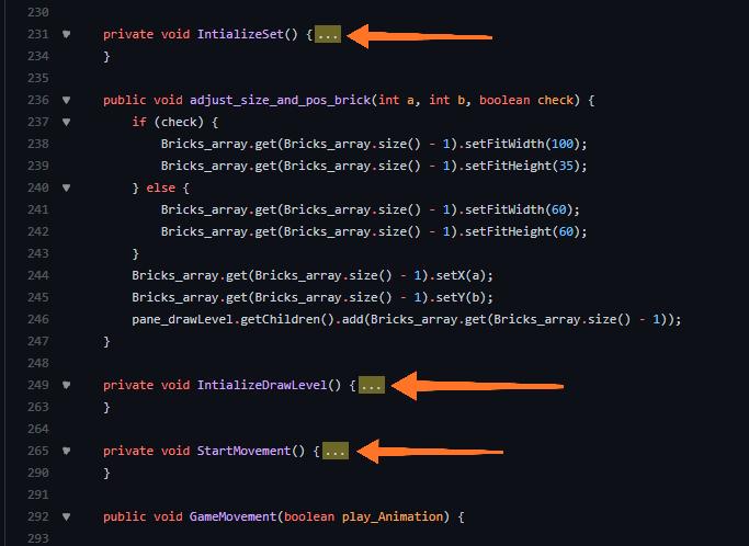 Code Folding extension screenshot