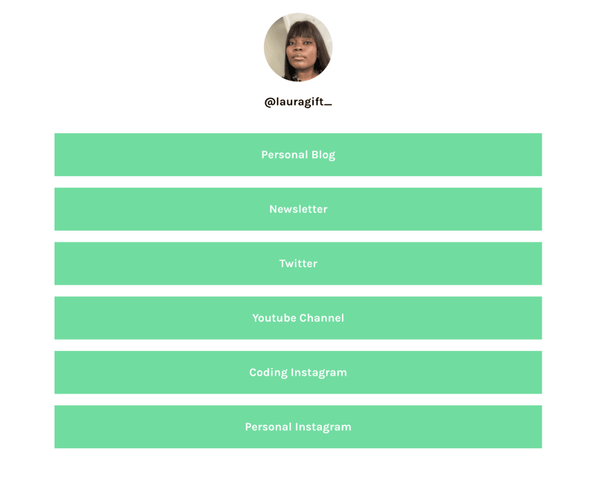 Linktree profile
