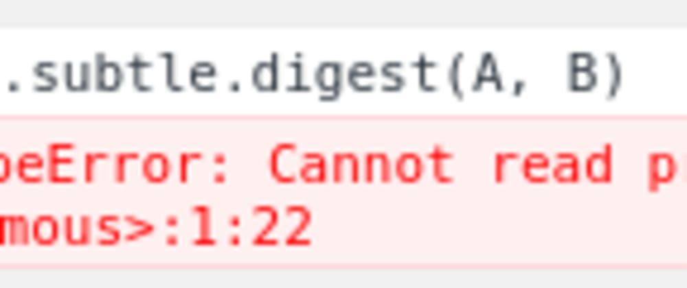 Cover image for Cannot read property 'digest' of undefined