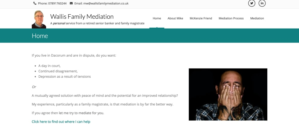 Cover image for Wallis Family Mediation (previously Wallis Consultancy)