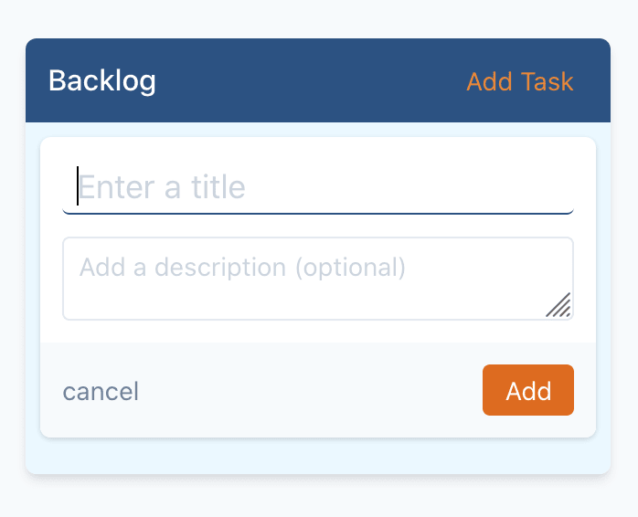 Add task form