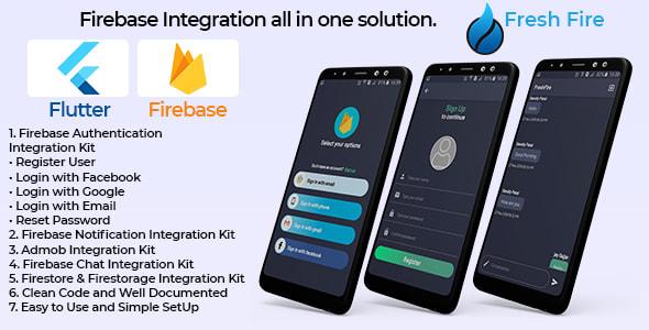Flutter Fresh<br> Firebase