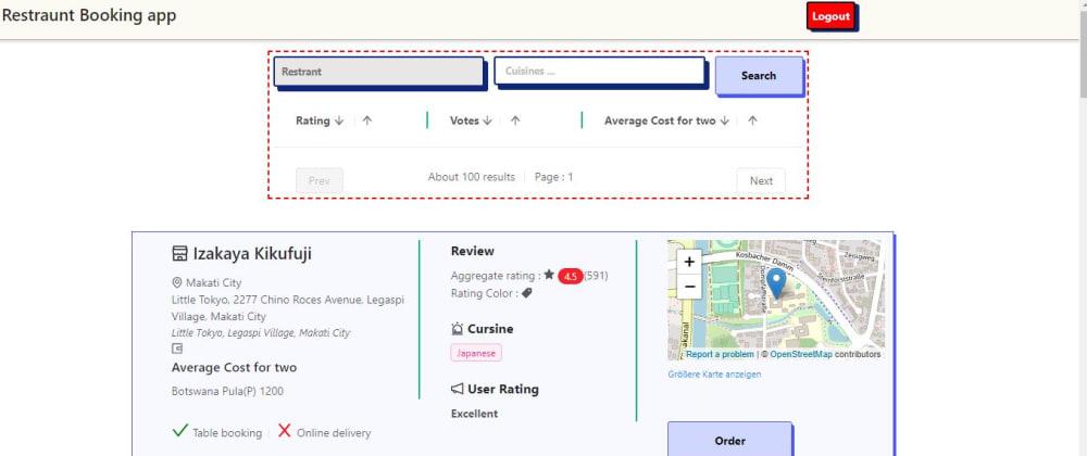 Cover image for Restaurant Finder App