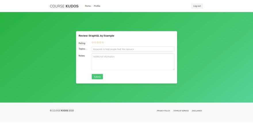 Course Kudos - Review form