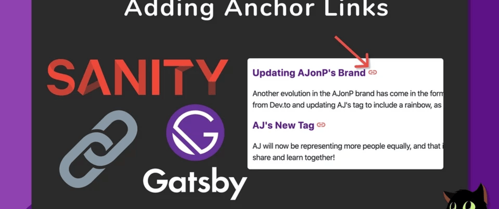 Cover image for Anchor Links From Sanity in Gatsby