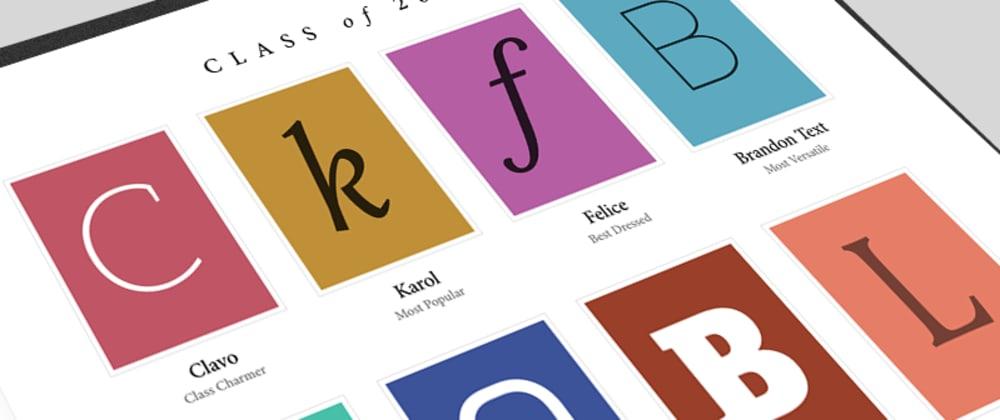 Cover image for Web font optimisation