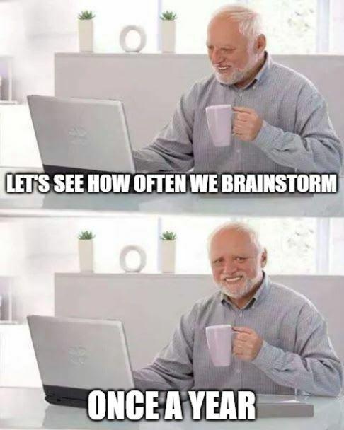 hide the pain harold innovation meme