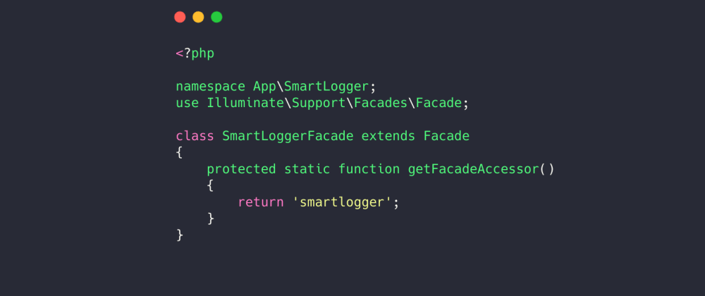 Cover image for Define your own facade in laravel