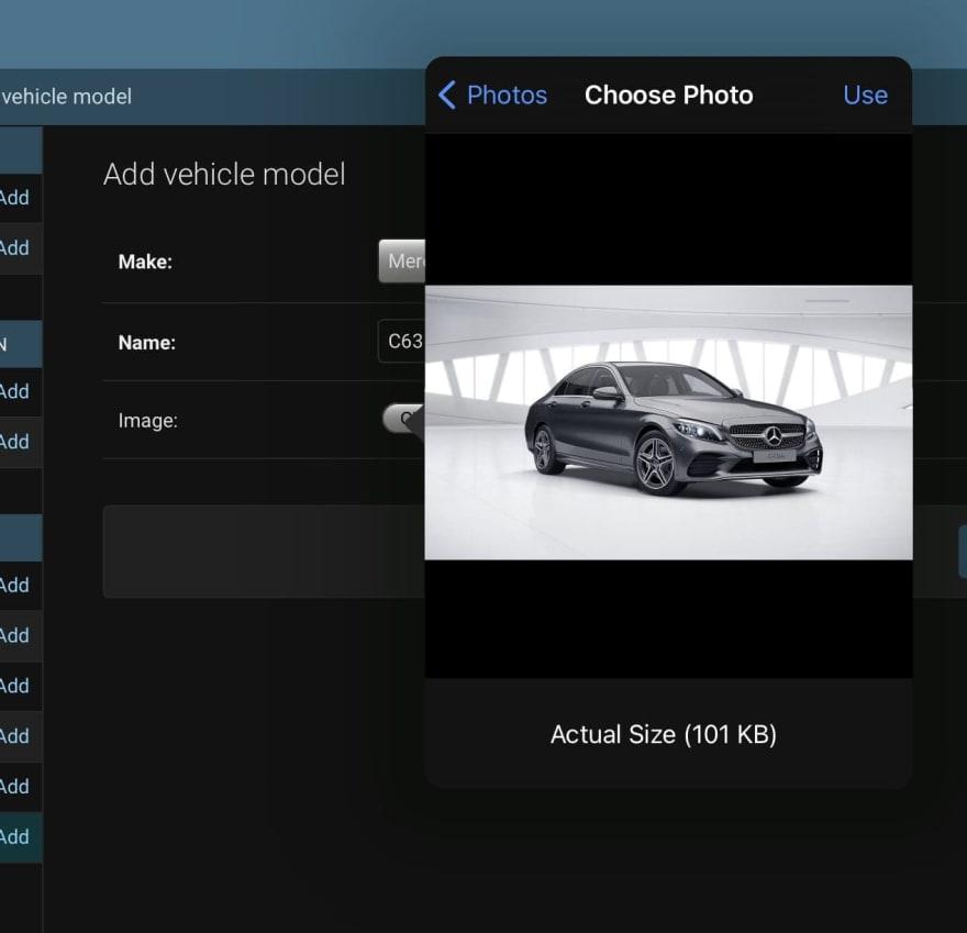 Stopclutch admin - vehicle model