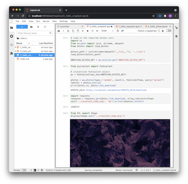 Executed Python notebook