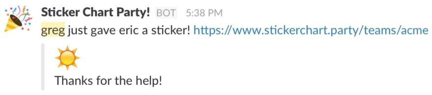 Slack success response