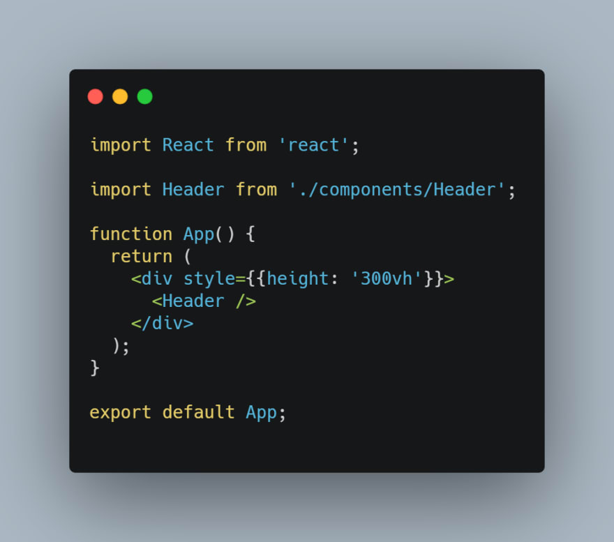 App.js example