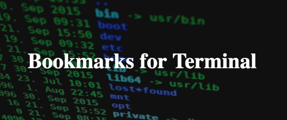 Cover image for How to Bookmark commands in Terminal
