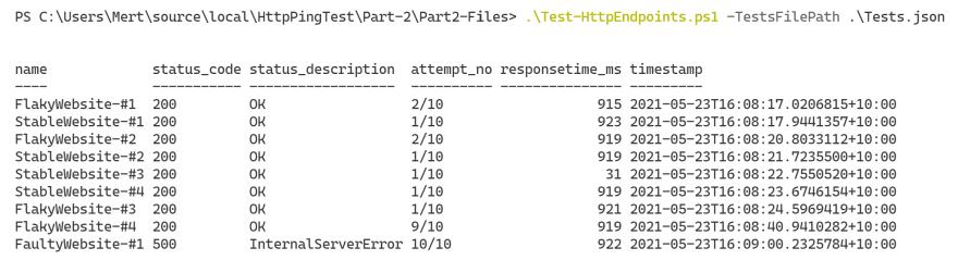 Part-2 Sample Successful Output 2