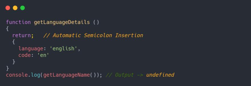 Automatic Semicolon Insertion