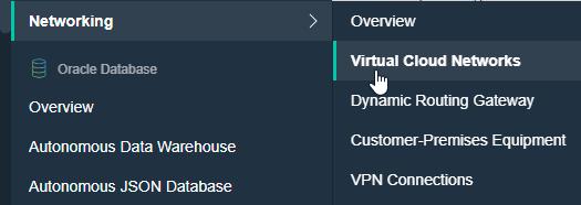 VCN menu