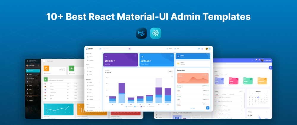 Cover image for 10+ Best React Material-UI Admin Template
