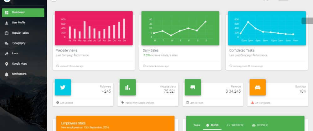 Cover image for Vue Dashboard - Open-Source and Free