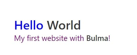 Bulma CSS - a minimum starter.