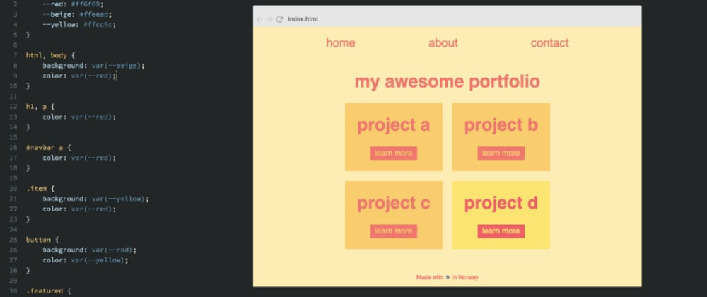 Cover image for How to easily create themes with CSS Variables