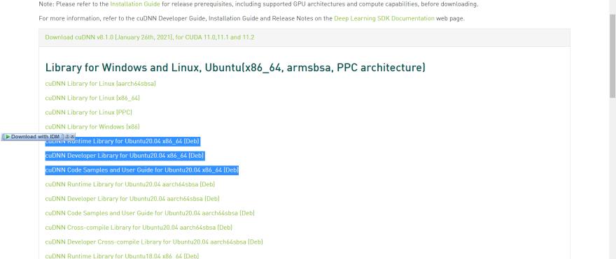 cuDNN installation linux