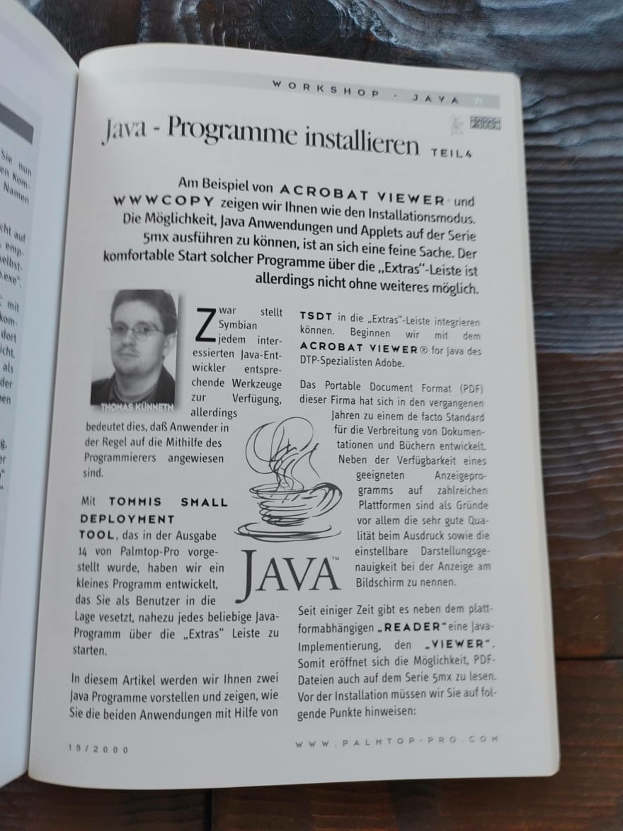 An article of mine in Palmtop magazine