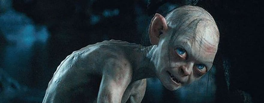 nasty gollum from lord of the rings