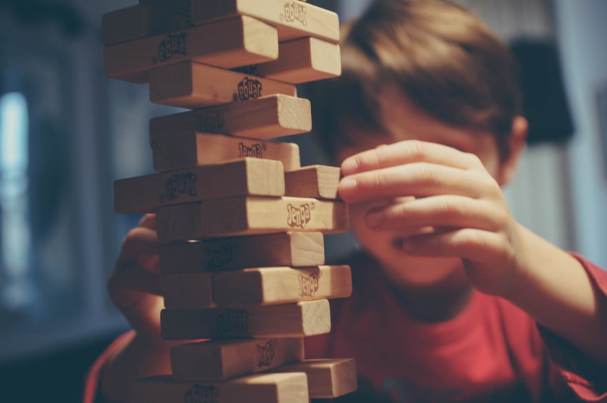 Taking risks, and making compromises...like with Jenga