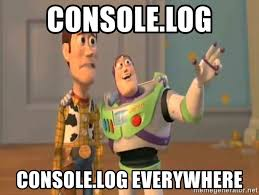 console.logs everywhere