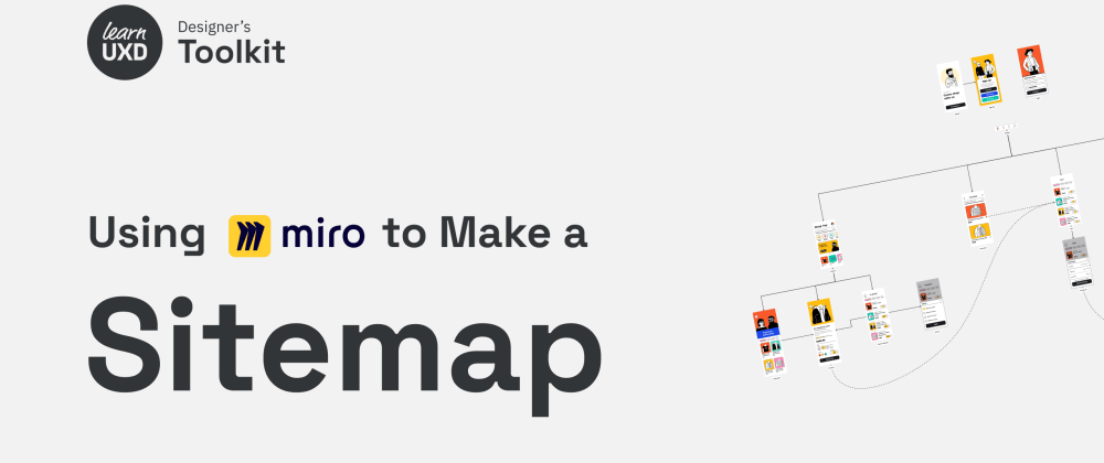 Cover image for Using Miro to make a sitemap
